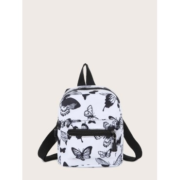 Butterfly Graphic Pocket Front Backpack