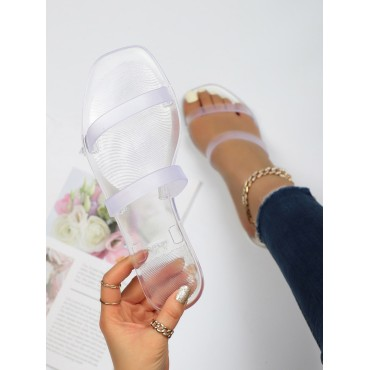 Clear Double Strap Slides